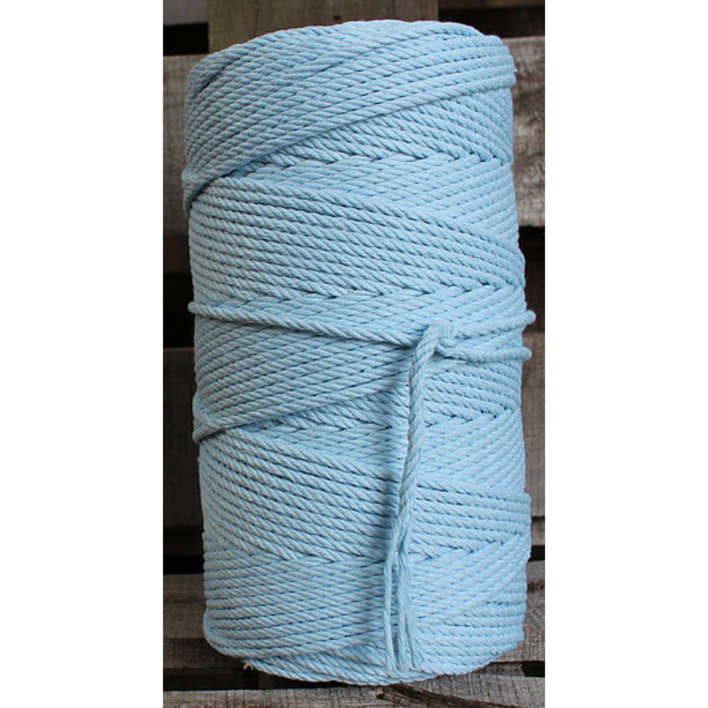 4.5mm Macrame Cotton Pastel Blue Twisted Rope 1kg 185mt