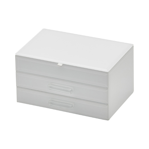 Gabriella Jewellery Box White Medium