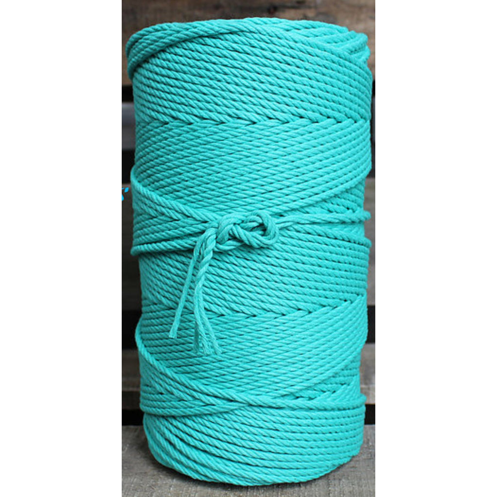 4.5mm Macrame Cotton turquoise Twisted Rope 1kg 185mt