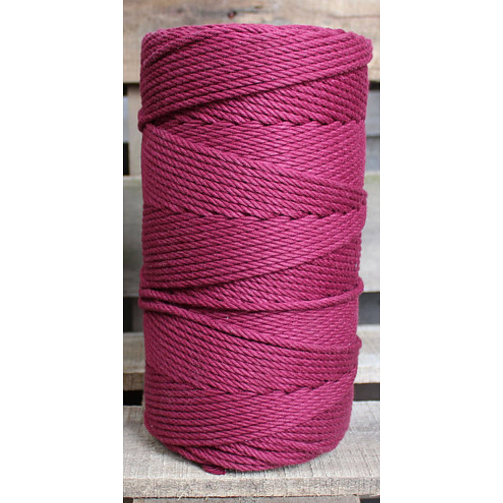 4.5mm Macrame Cotton Maroon Twisted Rope 1kg 185mt