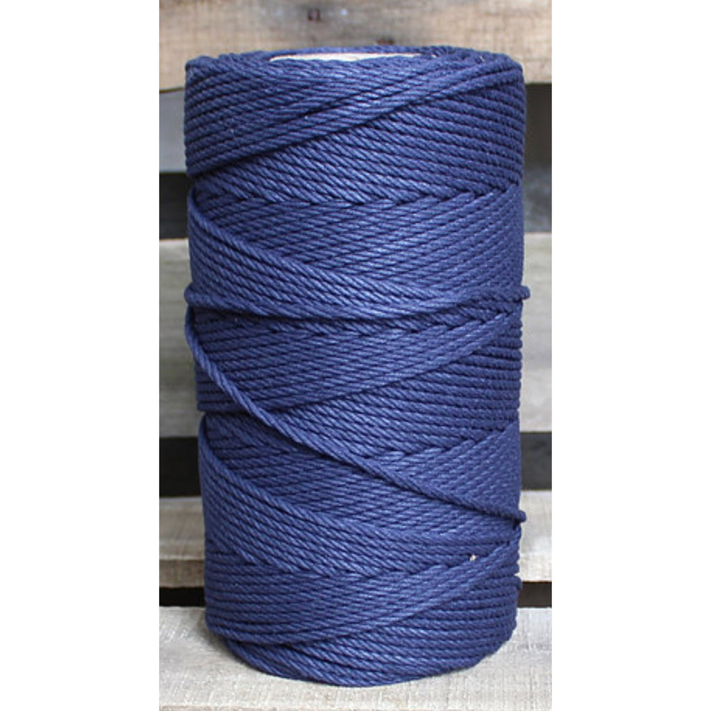 4.5mm Macrame Cotton Navy Twisted Rope 1kg 185mt