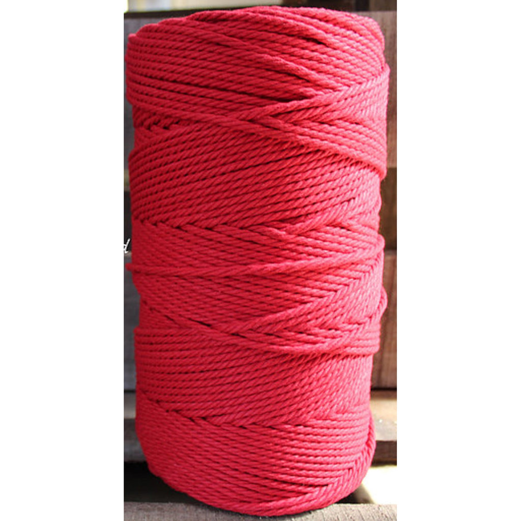 4.5mm Macrame Cotton Red Twisted Rope 1kg 185mt