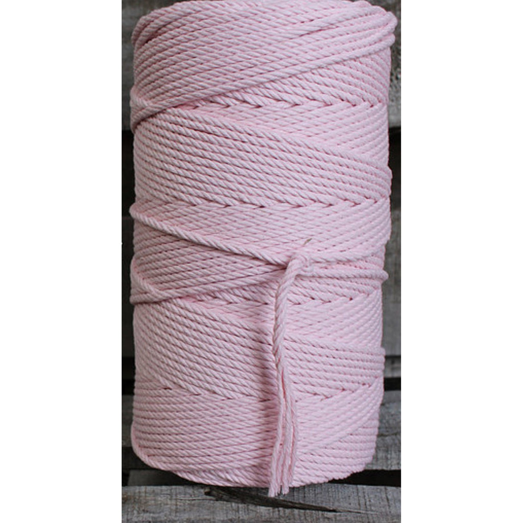 4.5mm Macrame Cotton Pastel Pink Twisted Rope 1kg 185mt