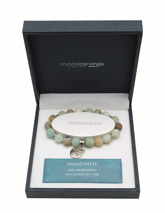 Amazonite Matte Tree of Life Bracelet
