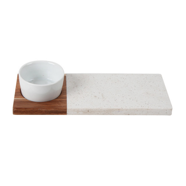 Bellance Wood and Terrazzo Tapas Serving Board 30 x 12cm