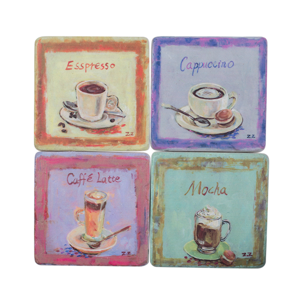 Coffee Resin Drink Coaster Set/4