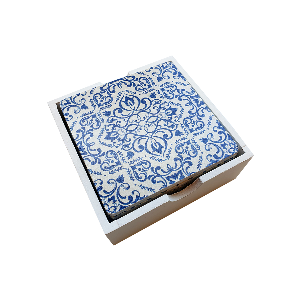 Blue Floral Coasters