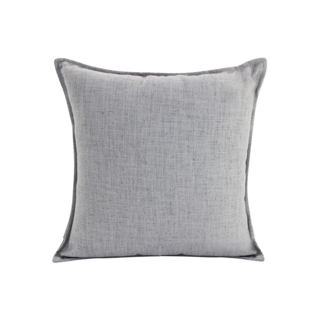 Linen Light Grey Feather Filled Cushion 55x55cm