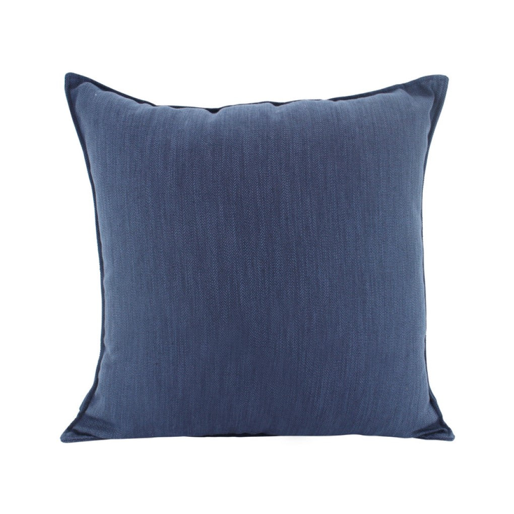 Linen Navy Feather Filled Cushion 55x55cm