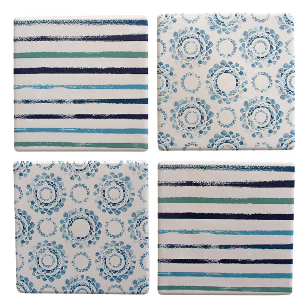 Coasters Blue Pattern