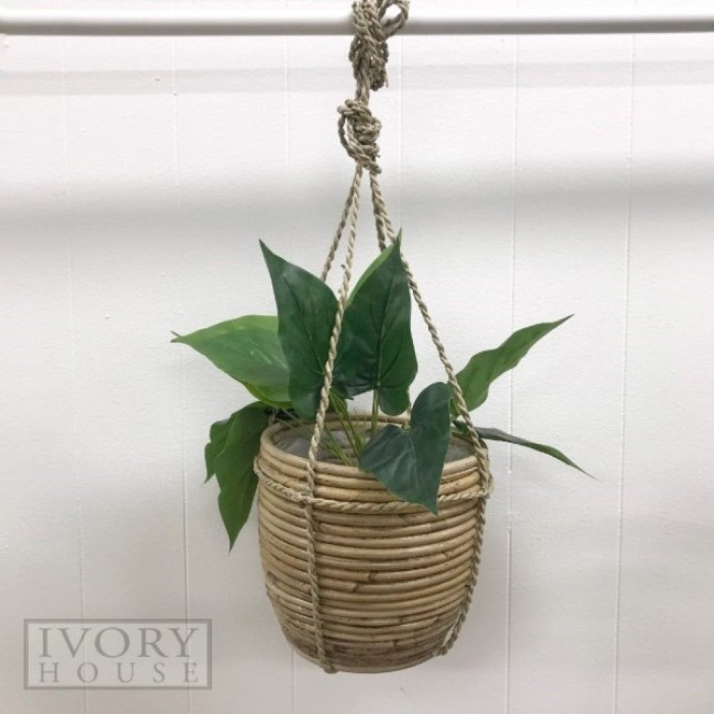 Marc Ribbed Hanging Basket