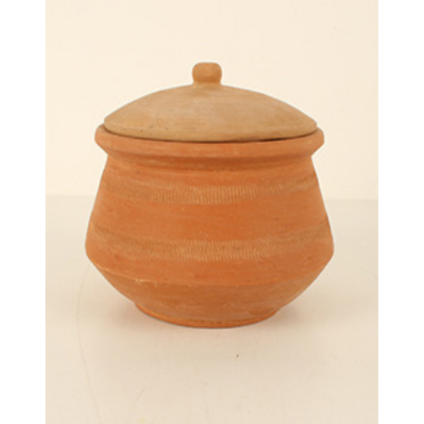 Darma Terracotta Pot with Lid 15x15x13cm
