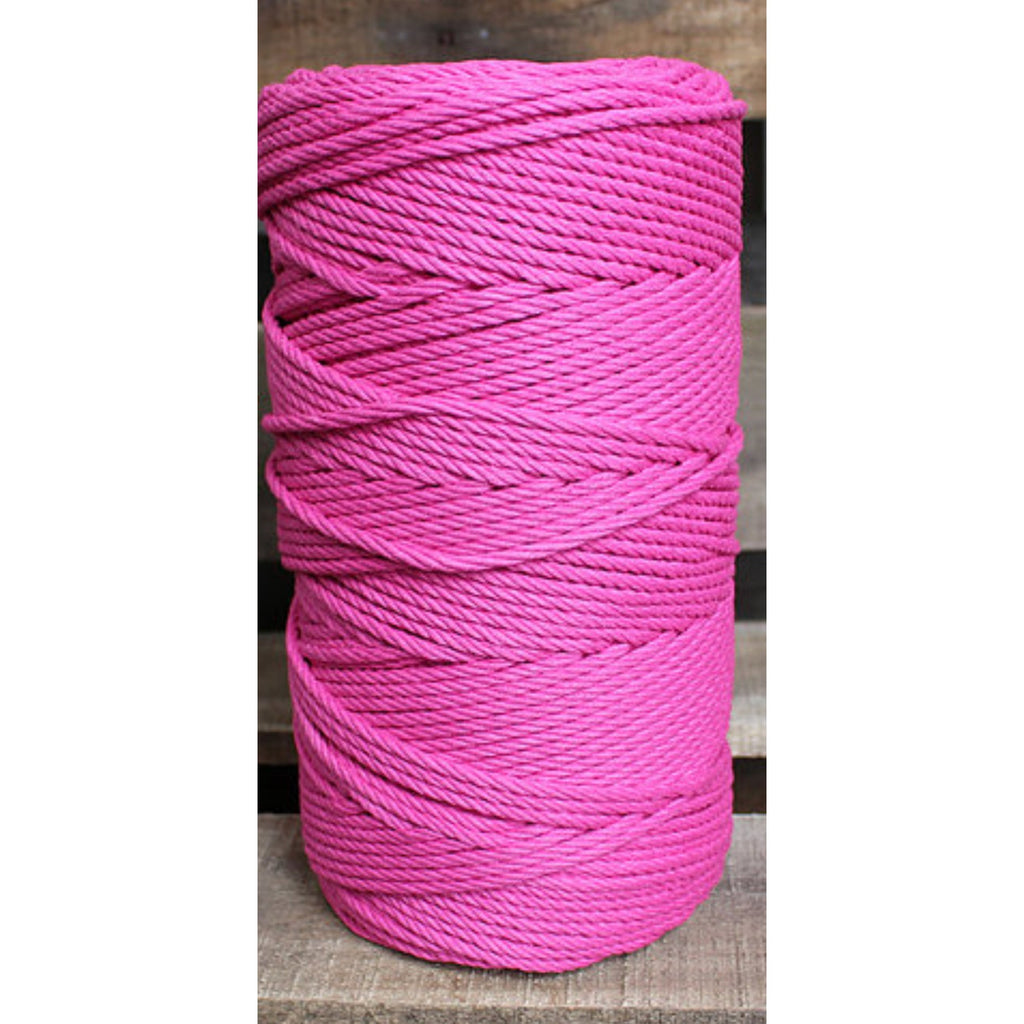 4.5mm Macrame Cotton Magenta Twisted Rope 1kg 185mt