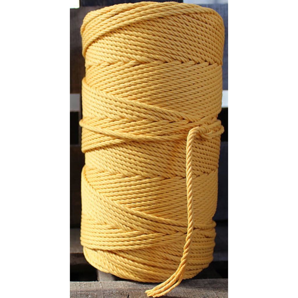 4.5mm Macrame Cotton Gold Twisted Rope 1kg 185mt