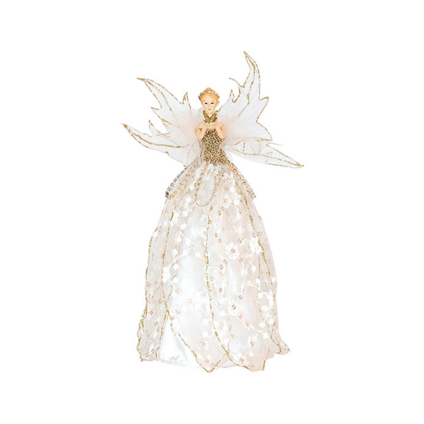 Fairy Tree Topper With Butterfly Gold 28cm