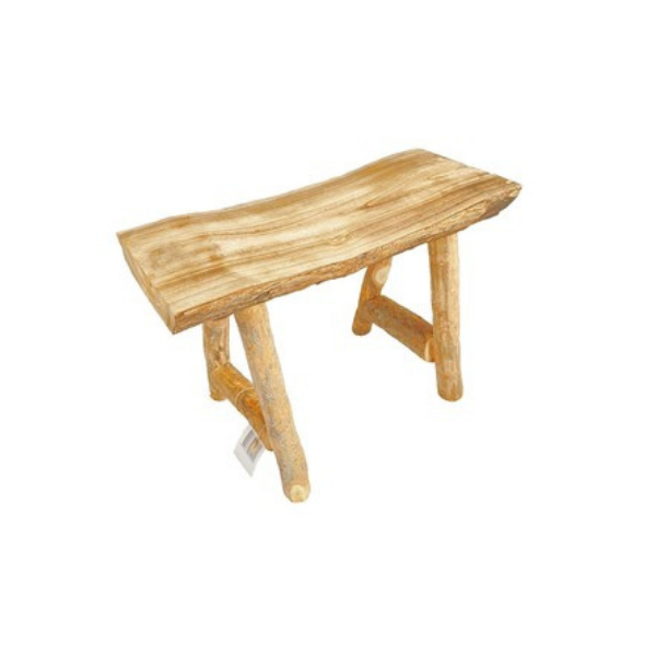 Wooden Bench Stool Small 46x33x30cm