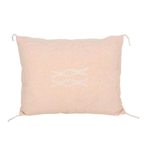 Indra Embroidery Cushion Dusty Pink 50x35cm
