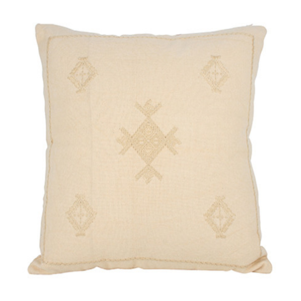 Innez Embroidery Cushion Cream 50x50cm