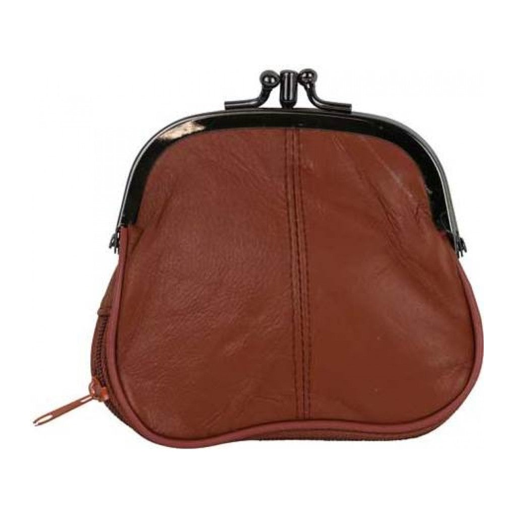 Leather Purse Double Chocolate