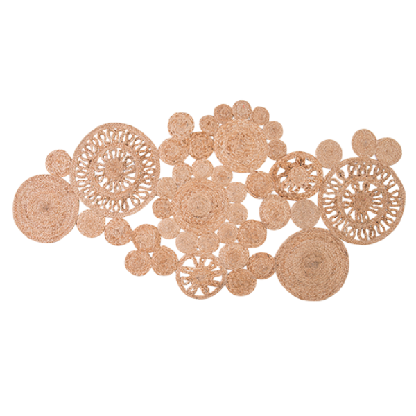 Circles Jute Table Runner 135cm
