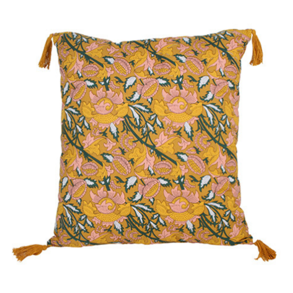 Mairi Printed Cushion with Tassels 50x50cm