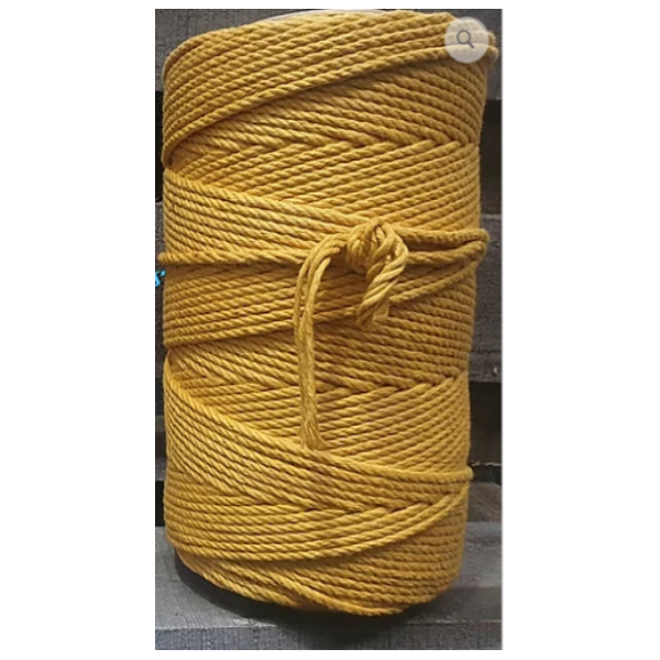 4.5mm Macrame Cotton Mustard Twisted Rope 1kg 185mt