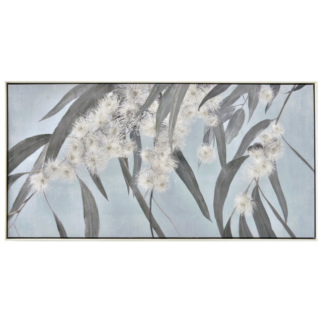 White Gum Framed Canvas Painting 120x60cm