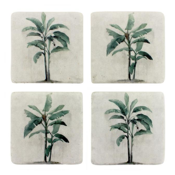 Colonial Resin Coasters Set 4