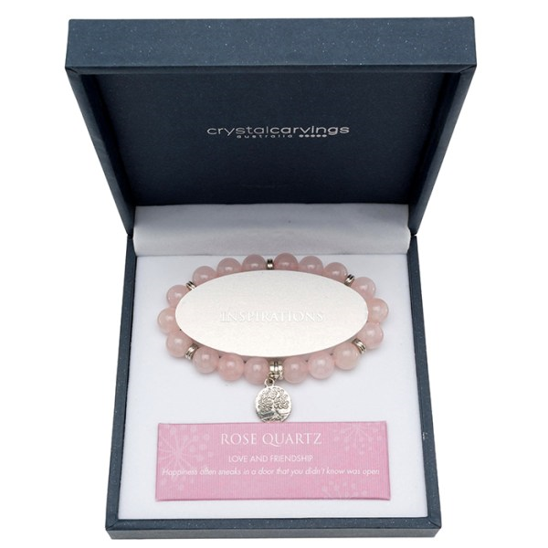 Rose Quartz Tree of Life Bracelet