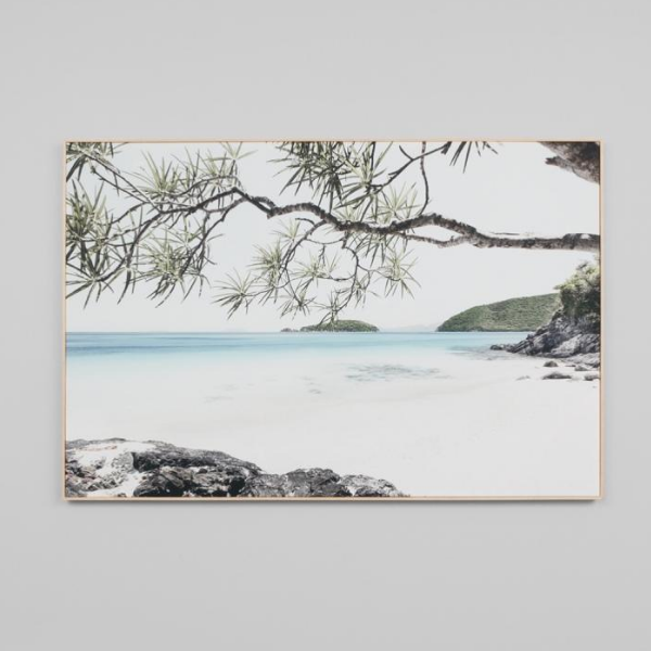 Shaded Paradise Framed Canvas 120x80cm
