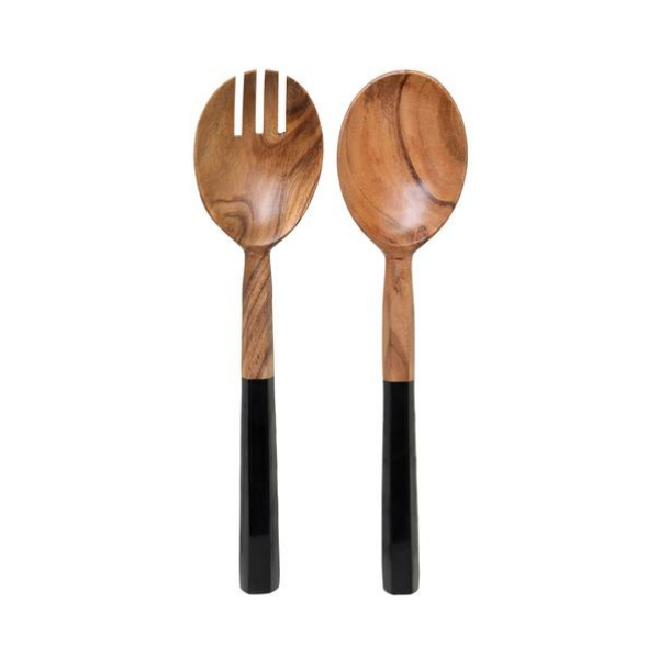 Zowie Salad Servers 30cm Natural and Black