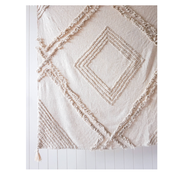 Burleigh Throw Natural 125x150cm