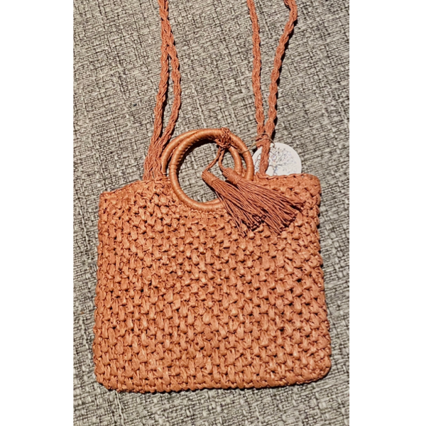 Ring Woven Hand Bag Terracotta