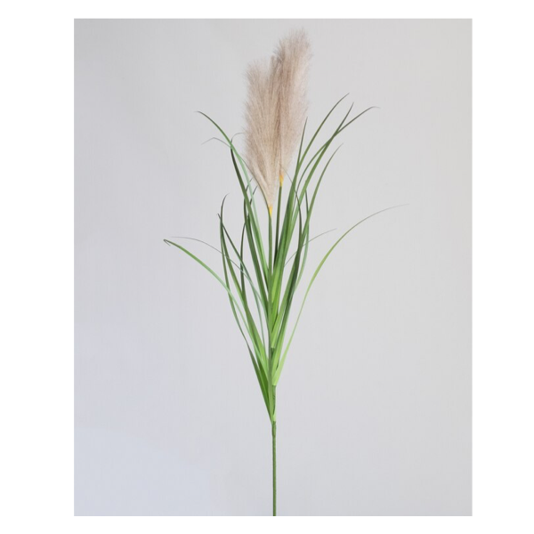 Plume Onion Grass Spray Light brown 109cm