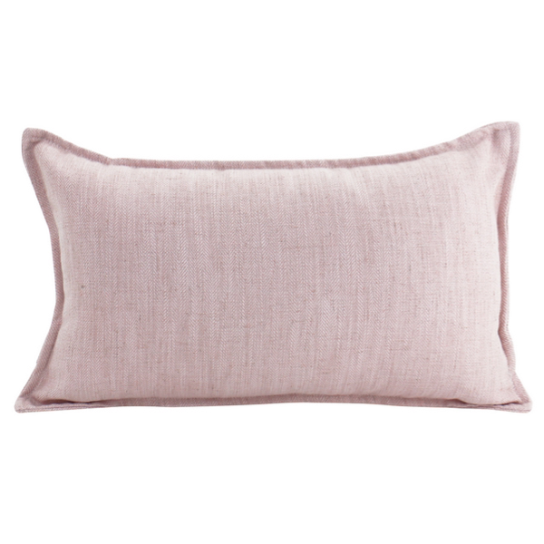 Linen Baby Pink Feather Filled Cushion 45x45cm