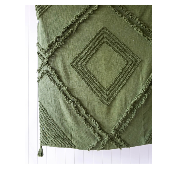 Burleigh Throw Olive Green 125x150cm