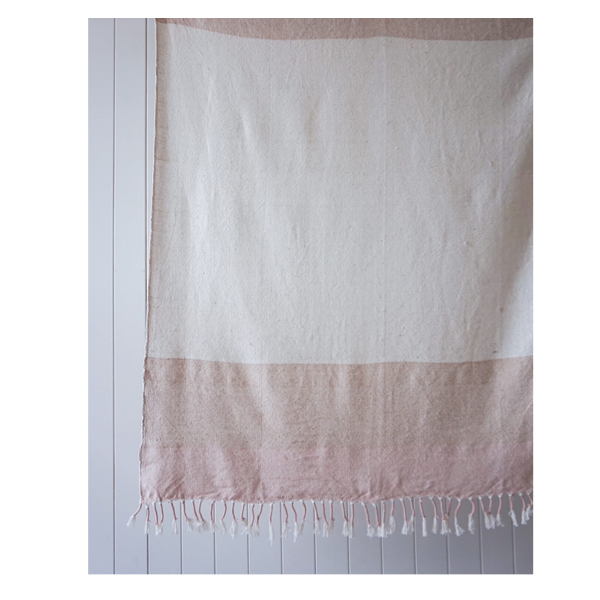Fawn Throw Natural/Blush 125x150cm