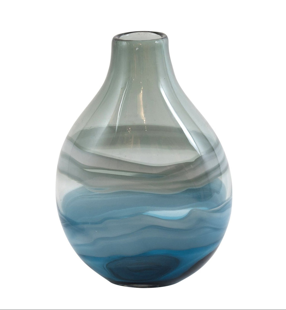 Kudd Teardrop Vase Navy Black White Small