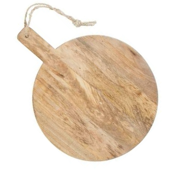 Large Wood Round Serving Board 57x74cm