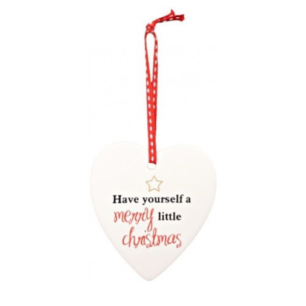 Hanging Heart Christmas 9x8cm