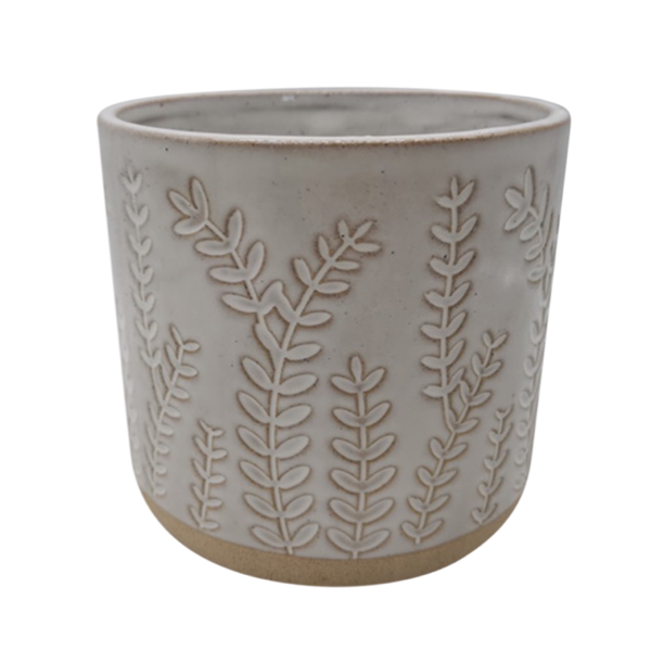 Planter Botanical White 13x13cm