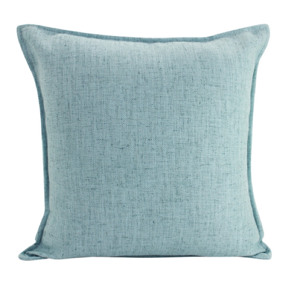 Linen Sky Blue Feather Filled Cushion 45x45cm