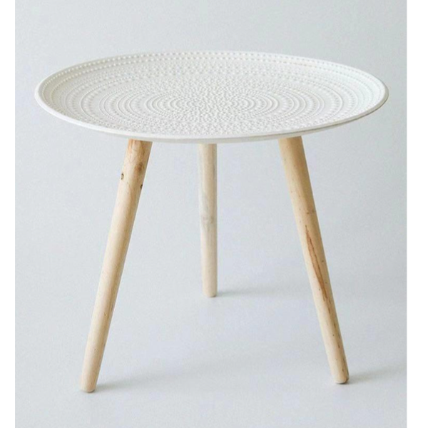Side Table White 40.5 Wx52cm H