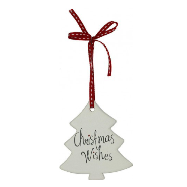 Hanging Tree Christmas Wishes 9x8cm