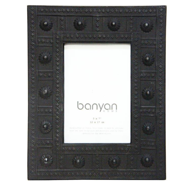 Biku Wood & Metal Photo Frame 5x7in Black