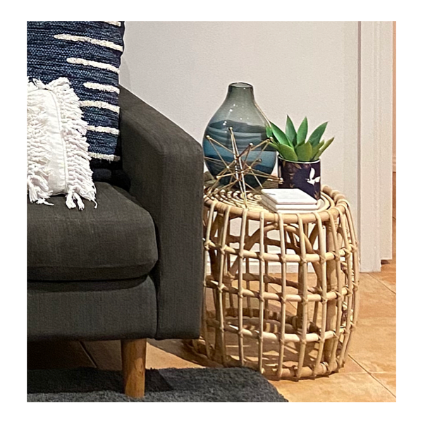 Rattan Side Table 45cm H