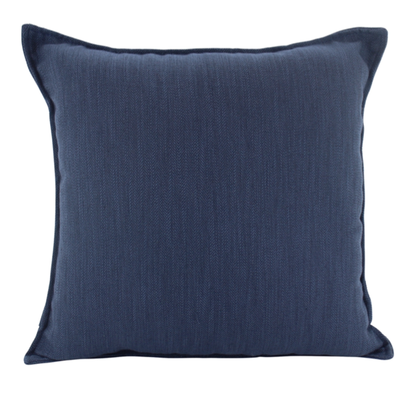 Linen Navy Feather Filled Cushion 45x45cm
