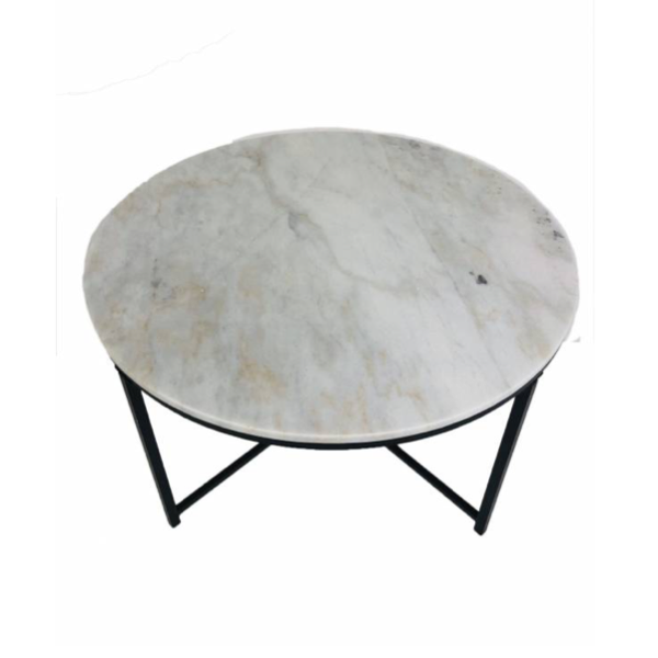 Toby Coffee Table Black and White 92Wx91.5H