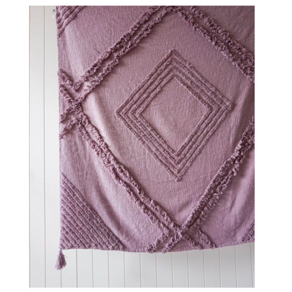Burleigh Throw Purple 125x150cm