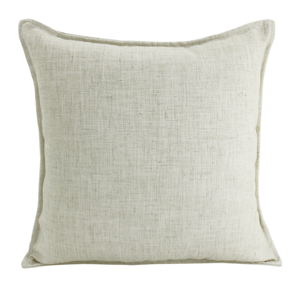 Linen Beige Feather Filled Cushion 55x55cm